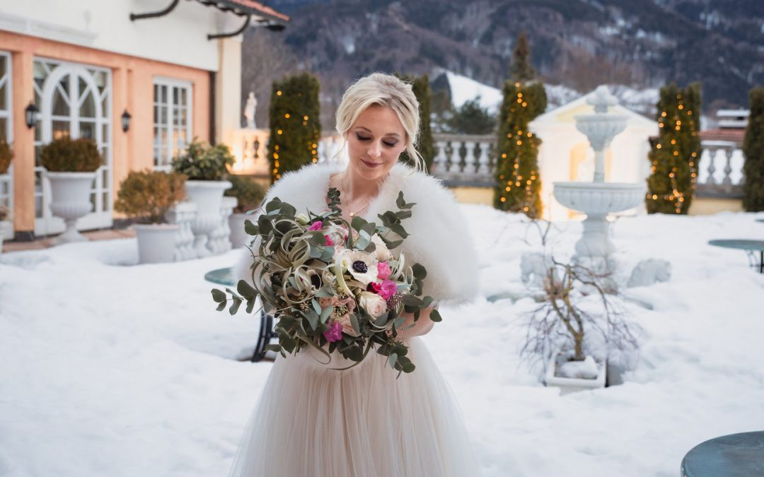 Bridal Shoot im winterlichen Chiemgau