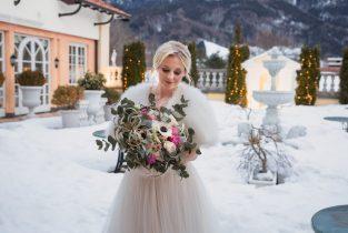Braut in der Residenz Heinz Winkler Aschau, Hochzeitsfotograf Aschau im Chiemgau