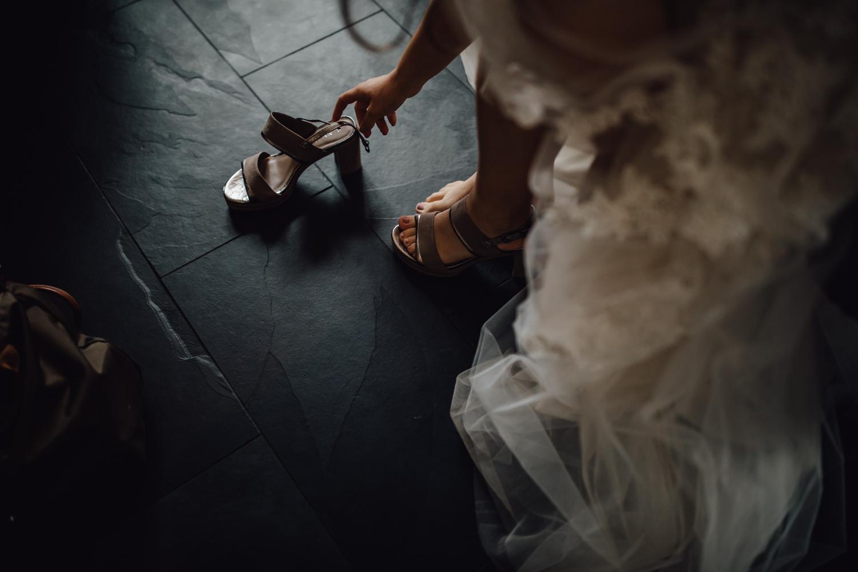 Schuhe von Hochzeitskleid Rosenheim