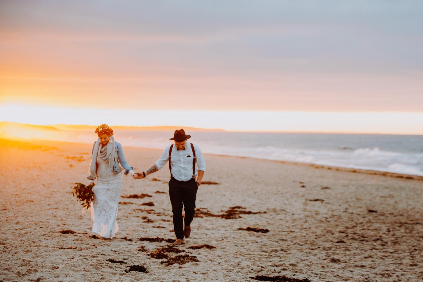 Hochzeitsfotografie Anton mit Brautpaar am See